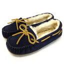 ショッピングMINNETONKA sale セール 正規取扱店 MINNETONKA(ミネトンカ) Sheepskin Pippa Slipper(シープスキンピッパスリッパ) #42024 DARK NAVY レディース MT367