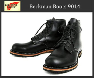Shipping & cash on delivery fee free dealer Red Wing (Red Wing) 9014 BECKMAN ROUND BOOTS ベックマンラウンド boots Black Feather stone Leather