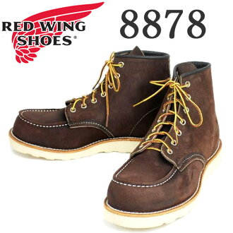 Shipping & cash on delivery fee free regular handling shop RED WING (Redwing) 8,878 6inch CLASSIC MOC TOE boot Traction Trad Sole JAVA MULESKINER ROUGHOUT
