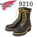 日本国内送料・代引き手数料無料 正規取扱店 2016-2017年 新作 RED WING (レッドウィング) 9210 9inch Logger Boots (9インチロガーブーツ) スティールトゥ ブラッククロンダイク