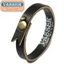 VASSER(バッサー)Casquette Boy Leather Bracelet Black(キャスケットボーイレザーブレスレットブラック)
