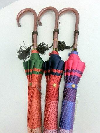 傘 レディース 婦人 甲州産 先染朱子格子 日本製 12本骨 ファッション雑貨 女性用 コーデ 雨具 ※fu 02P06Aug16