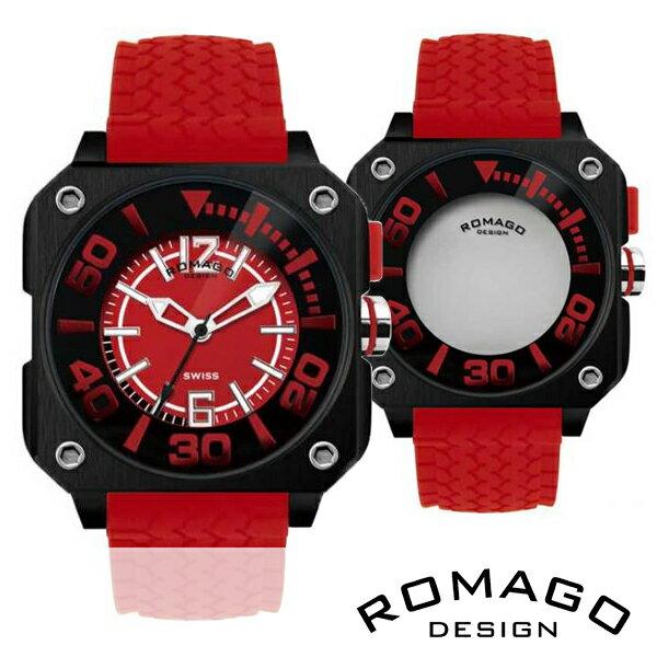 腕時計 メンズ 正規品 ROMAGO ロマゴ スクエアケース ミラー文字盤 RM018-0073PL-RD メンズ腕時計 腕時計 メンズ 正規品 ROMAGO ロマゴ スクエアケース ミラー文字盤 RM018-0073PL-RD メンズ腕時計 【送料無料】  0601カード分割