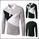 ポロシャツ メンズ トップス 長袖 カットソー スキッパー 細身 キレイめ カジュアル メンズファッション