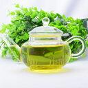中国茶器・玻璃水平壺 250cc・内茶漉(耐熱ガラスの茶壺/急須/ティーポット)