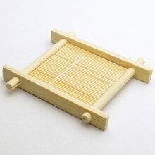 井字竹茶托(小)縦85×横79×高11mm