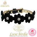 Luxe birdie (リュクスバーディ) Luxeプリシラカラー ブラック(size25)【小型犬 ペット カラー 首輪 ラグジュアリー セレブ/ 送料無料】