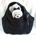 Otty(オッティ)×ROOTOTE(ルートート)コラボ・キャリーバッグ(ツイードブラック)【小型犬 犬用 ペット キャリーバッグ セレブ/ 送料無料】