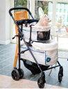 Mother Cart(マザーカート) ×Glamourism(グラマーイズム) ラプレL シャーリーン(ブルー) 上下段セット【小型犬 キャリーバッグ/ キャリーカート/ ペットカート/ ペットバギー/犬用品/ 送料無料】