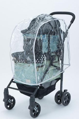 MotherCart(マザーカート)ラプレ・アジリティー上下段専用レインカバー小型犬キャリーバッグ/