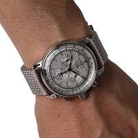 ZEPPELINツェッペリンZeppelin号誕生100周年記念モデルクロノグラフドイツ製腕時計メンズホワイト7680M1【送料無料】【代引き手数料無料】