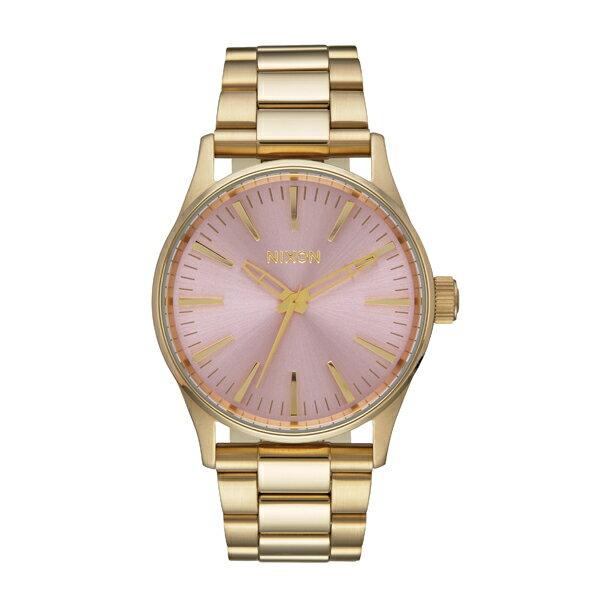 NIXON ニクソン Sentry 38 SS セントリー Light Gold/Pink 【国内正規品】 腕時計 NA4502360 【送料無料】【き手数料無料】