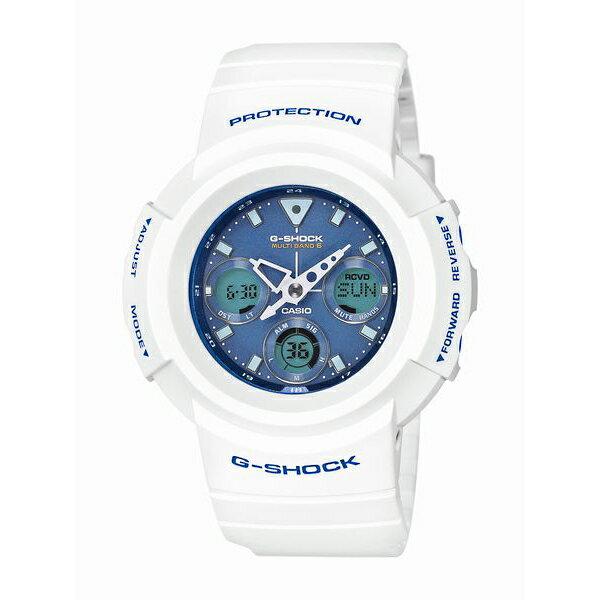G-SHOCK ジーショック CASIO カシオ MULTIBAND6 ホワイト×ライトブルー 【国内正規品】 腕時計 メンズ AWG-M510SWB-7AJF 【送料無料】【き手数料無料】