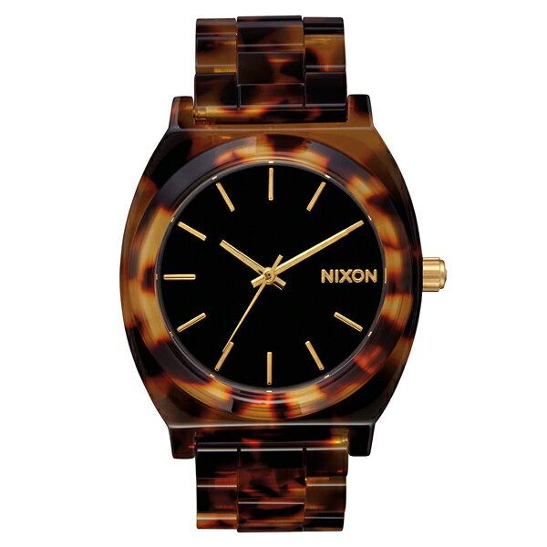 【ポイント10倍】NIXON ニクソン Time Teller Acetate Tortoise/Gold 2016 日本限定 【国内正規品】 腕時計 NA3272513 【送料無料】【代引き手数料無料】