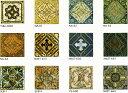 アンティーク デザインタイル 150角 アステカ イスラム・ヨーロッパ風(昭和レトロ)な磁器絵タイル