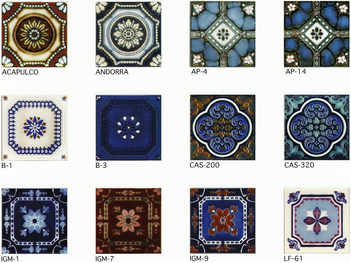 150角 デザインタイル 花柄 イスラム風(昭和レトロ)な磁器絵タイルです。インテリア 壁…...:tileonline:10000490