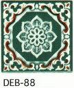 結晶 85角 デザインタイル アンティーク イスラム風(昭和レトロ)な絵タイルです。 壁 床(キッチン カウンター テーブル 浴室)のDIYリフォーム プランター作成にお勧めです。コースター 鍋敷き等 インテリア雑貨としてもOK