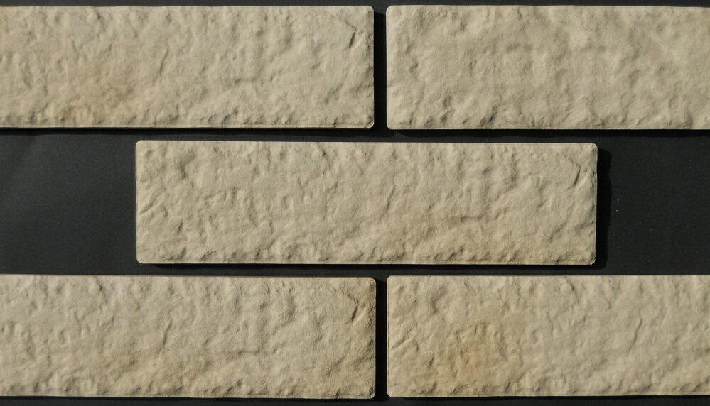 レンガタイル壁用白ベージュ色イージーブリックアンティーク磁器質接着剤で貼る二丁掛平リビングキッチンベ