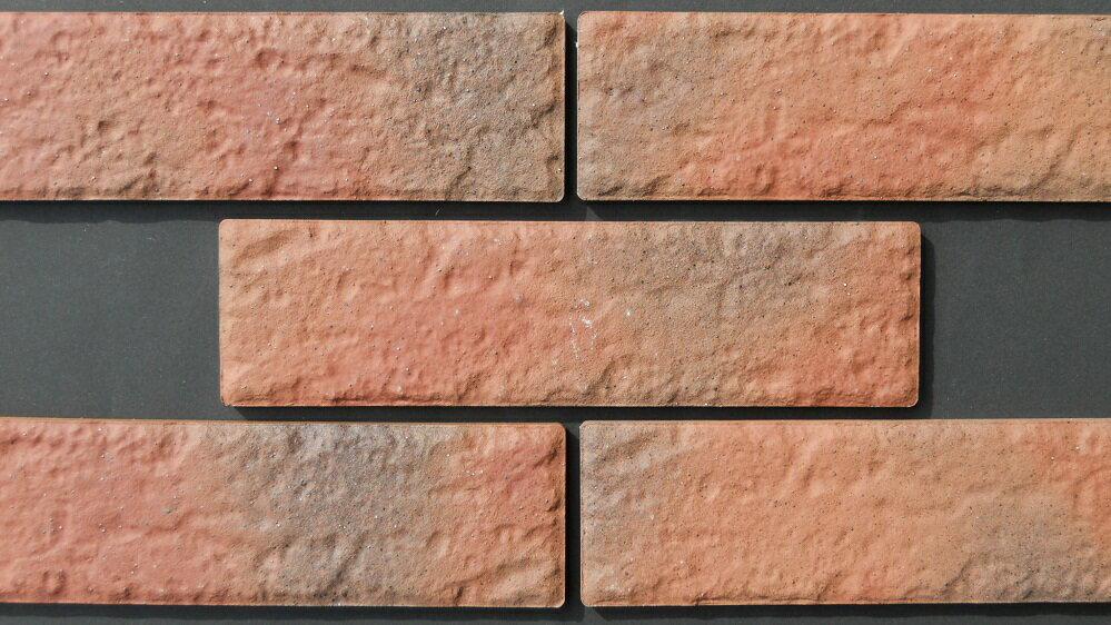 レンガ 壁用 赤煉瓦色 イージーブリック タイル 磁器 接着剤貼り専用 一枚からの販売二丁…...:tileonline:10000568