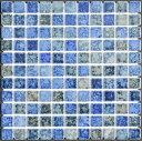 25角タイル モザイクタイル ガイア 青色窯変ミックス シート(121粒)販売です。 アンティーク 大理石調のカラフルなミックス デザインです。内 外、床 壁、...