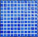 モザイクタイル シート 25角 シードロップ 磁器 青。ミックスデザインタイル対応、おしゃれなアンティーク、レトロモダン風。キッチン・玄関・テーブル・浴室(風呂)洗面所のDIYリフォームにOK。床・壁インテリア建材・日本製・美濃焼・耐熱