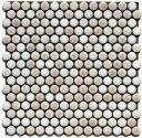 丸 モザイクタイル シート 磁器 19mm かわいい ピンクパール アンテイーク ミックスデザイン。キッチン カウンター お風呂 浴室 浴槽 床 壁 洗面台 玄関 テーブル トイレをDIYで、おしゃれにリフォーム。陶器 耐熱 耐水 耐火 美濃焼 インテリア