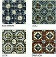 デザイン モザイクタイル シート 75角 マジョルカ アンティーク イスラム風 磁器。キッチン・壁等のDIYに(16粒)