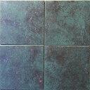 和銅(メタリックタイル 磁器質)300角 青磁色風・青緑色 1枚単位の販売です 外床・内床・壁用(玄関 ポーチ・浴室 ガーデニング・庭園 ベランダ・バルコニー・...