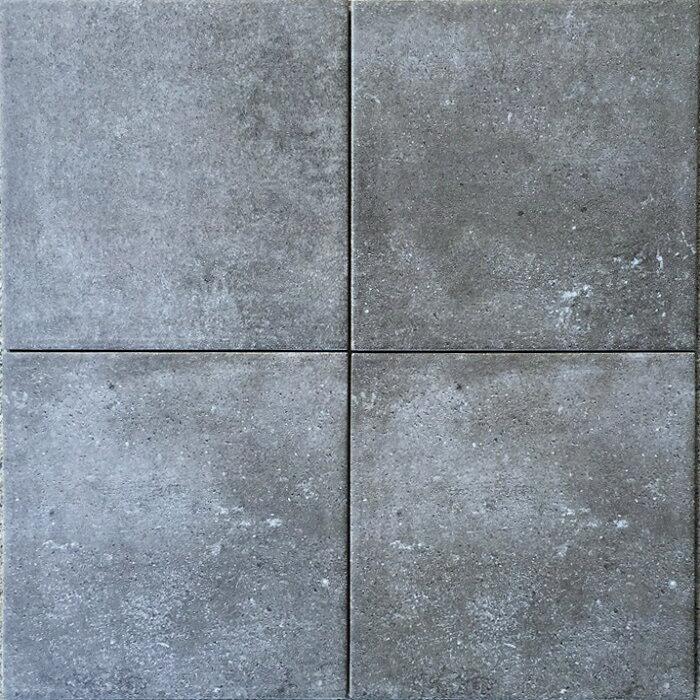 磁器 タイル 300角 コンクリート風 黒グレー色 シンプルモダン。滑り止め(防滑)防汚(汚れに強い)内装用・外床用・敷石(内・外床、玄関 ポーチ・ベランダ・ガーデニング・エントランス)のDIYリフォームにお勧め