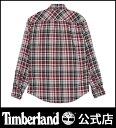 【アウトレット】ティンバーランド timberland メンズ 長袖 バックリバー ウールブレンド メランジ プレード スリム Timberland