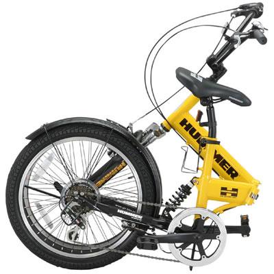 【完全整備済】2015HUMMERFDB206Wsusハマー20インチ折り畳み自転車(20インチ/6段変速付)【迫力の20型折りたたみ自転車!】