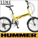 【完全整備済】2015HUMMER FDB206Wsus ハマー 20インチ折り畳み自転車(20インチ/6段変速付)【迫力の20型折りたたみ自転車!】