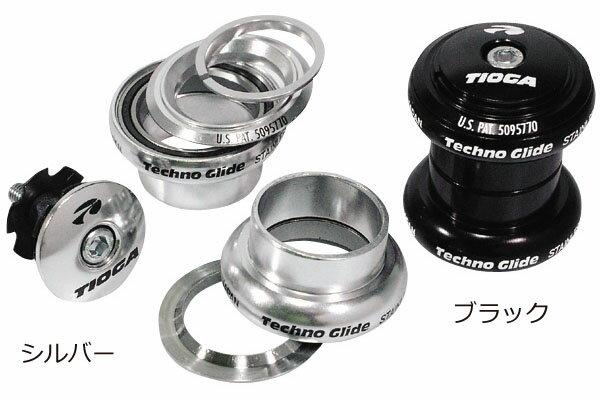 【スポーツ 自転車 パーツ ヘッドセット】TIOGA タイオガ TECHNO GLIDE テクノグライド HDN05800-01  M #7075-T6 アルミカップにステンレス カートリッジベアリングを採用