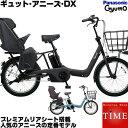 【送料無料】【豪華特典付】パナソニック ギュットアニーズDX 3人乗り 電動自転車 201