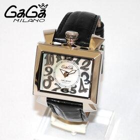GaGaMILANO�ʥ����ߥ�Ρ˻����ӻ���NAPOLEONE�ʥݥ쥪����40mm�֥�å��쥶��/�ۥ磻�ȥ�����/����С�6030.560305�ܡ�������ǥ�����������̵���ʢ��̳�ƻ�������1,000�ߡˡ�(gaga-60305)