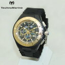 TechnoMarine テクノマリーン 腕時計 TM115111 CRUISE JELLYFISH ゴールド/ブラック ラバー ウォッチ テクノマリン 時計 【送料無料(※北海道・沖縄は1,000円)】