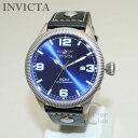 インビクタ 腕時計 INVICTA 時計 1459 Vintage ヴィンテージ ブラック レザー/シルバー/ブルー メンズ インヴィクタ 【送料無料(※北海道 沖縄は1,000円)】