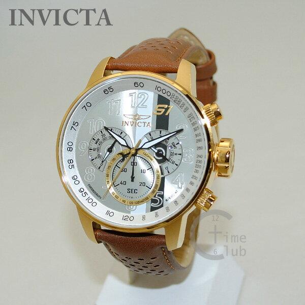 INVICTA (インビクタ) 腕時計 時計 19287 S1 Rally クロノグラフ ゴールド/ブラウン メンズ レザー インヴィクタ 【送料無料(※北海道・沖縄は1,000円)】 [INVICTA][インビクタ][インヴィクタ][腕時計][時計][ウォッチ]