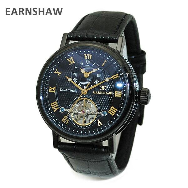 【国内正規品】 EARNSHAW (アーンショウ) 時計 腕時計 ES-8047-09 レザー ブラック/ブラック/ブラック メンズ ウォッチ 自動巻き 【送料無料(※北海道・沖縄は1,000円)】 [Thomas Earnshaw][トーマス アーンショウ][時計][腕時計][ウォッチ]