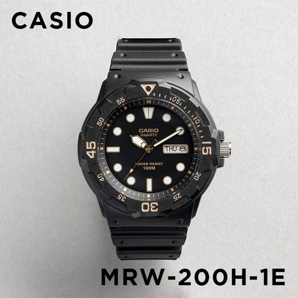 【並行輸入品】CASIO SPORTS ANALOGUE MENS カシオ スポーツ アナログ メンズ MRW-200H-1E 腕時計 チープカシオ チプカシ プチプラ 防水 ブラック 黒