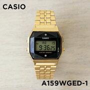 【並行輸入品】CASIO STANDARD DIGITAL カシオ スタンダード デジタル A159WGED-1 腕時計 メンズ レディース チープカシオ チプカシ プチプラ ブラック 黒 ゴールド 金 ダイヤモンド