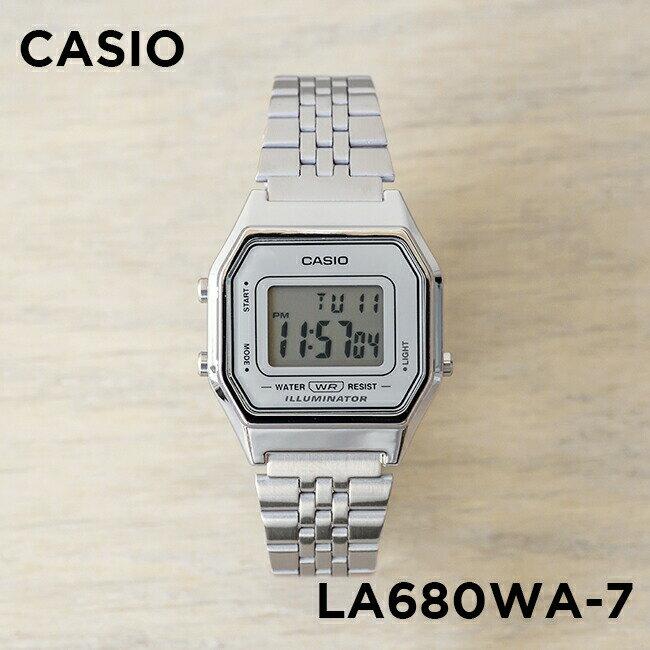 【並行輸入品】【10年保証】CASIO STANDARD DIGITAL LADYS カシオ スタンダード デジタル レディース LA680WA-7 腕時計 キッズ 子供用 女の子 チープカシオ チプカシ プチプラ シルバー