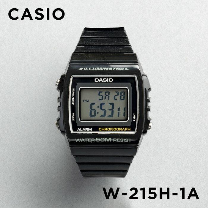 【並行輸入品】CASIO STANDARD DIGITAL カシオ スタンダード デジタル W-215H-1A 腕時計 メンズ レディース チープカシオ チプカシ プチプラ ブラック 黒