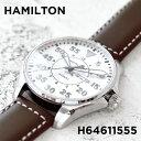 Watches - 【並行輸入品】HAMILTON KHAKI AVIATION PILOT ハミルトン カーキ アビエーション パイロット H64611555 腕時計 メンズ アナログ ホワイト 白 ブラウン 茶 レザー 革ベルト
