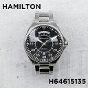 【並行輸入品】HAMILTON ハミルトン カーキ アビエーション パイロット デイ デイト H64615135 腕時計 メンズ アナログ ブラック 黒 シルバー