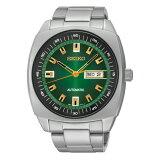 SEIKO RECRAFT SERIES AUTOMATIC MENS セイコー リクラフト シリーズ オートマチック メンズ SNKM97 送料無料 腕時計 時計 逆輸入 シルバー グリーン 緑 日本未発売