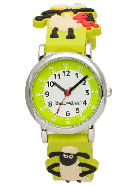 人気 ギフト SHAUN THE SHEEP KIDS GREEN ひつじのショーン キッズ グリーン SS100-03 ガールズ ボーイズ 子供用 イエローグリーン 黄緑 ホワイト 白