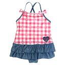 決算在庫処分 ワンピース 水着 キッズ 女の子 子供 スイミング スカート付き ワンピ UVカット 子供水着 845597