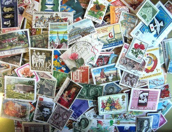 海外使用済み切手 30枚...:tiny-flowers:10001080