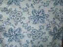 ドイツ ジャーマンファブリック ブルーのお花